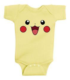 Pikachu Face Pokemon Infant Lap Baby Onesie Banana T-Shirt