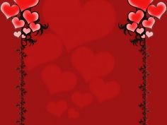 Red Love Border Background Wallpaper