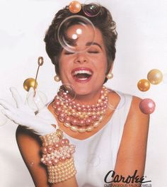 1991 Carolee jewelry ad ''Outrageous Faux Jewels''