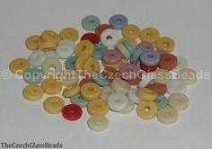 50g Czech Vintage Sintered Saucer Beads 6mm by TheCzechGlassBeads