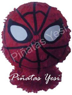Piñata artesanal hecha a mano al estilo tradicional mexicano de Spiderman