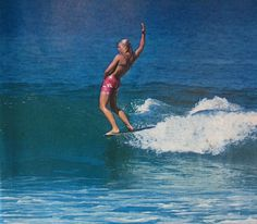 Ron Stoner's photo of Joyce Hoffman at the 1966 World Contest in San Diego, California, from Surfer May 1967