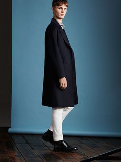 Zara Man 2016 2017 Seasonals Editorial Navy Coat Look-11