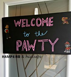 Outdoor paw patrol ideas. Paw patrol decorating ideas. Decorating ideas for a #pawpatrol party. What we did for our daughter's second birthday.