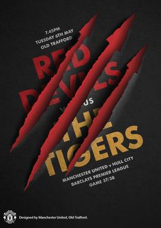Match poster. Manchester United vs Hull City, 6 May 2014. Designed by @manutd.