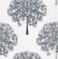 Impressions Graphite (1944/912) - Prestigious Wallpapers - A beautiful and contemporary tree design in a painted effect. Showing in black and white - other colour ways available. Please request a sample for true colour match. Paste-the-wall product. $89 roll
