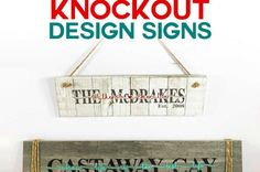 DIY Knockout Design Signs in Cricut Design Space - how to make name signs on ceramic tile Craft Room Tables, Ikea Craft Room, Craft Room Storage, Paper Storage, Paper Organization, Organizing Ideas, Cricket Machine, Money Making Crafts, Easy Paper Flowers