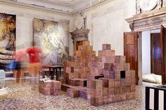 Paul Kelley copper faced cube furniture.