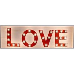 "Check out this item at One Kings Lane! Marquee Light Up ""Love"" Sign, Red"