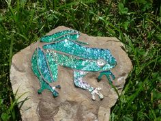 Glass Mosaic Frogs