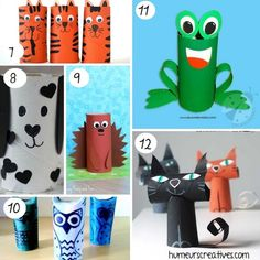 Find more than 80 ideas for crafts for kids to make with rolls of toilet paper. favorite characters, animals, vehicles, motor games and more! Crafts For Kids To Make, Edd, Toilet Paper, Montessori, Activities For Kids, Projects To Try, Games, Whiteboard Animation, Amelie