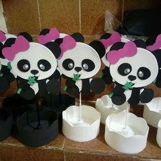 Centro de mesa Panda em eva
