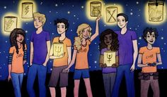 The Percy Jackson gang