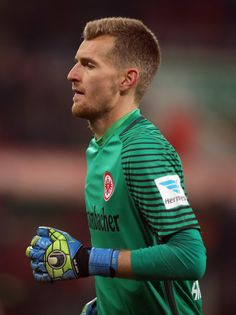 Lukas Hradecky, goalkeeper of Frankfurt in action during the Bundesliga match between FC Augsburg and Eintracht Frankfurt at WWK Arena on December 4, 2016 in Augsburg, Germany.