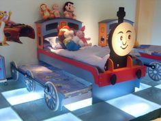 train bed | 955-18 Thomas-Zug Bett mit zwei Schichten - Kinderbett - german ...