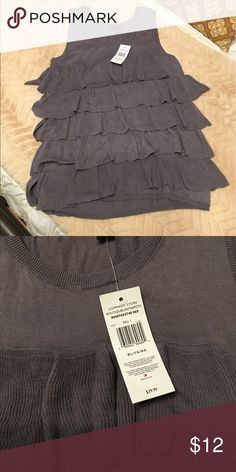 🌟🎈Tommy Hilfiger ruffle rank🎈🌟 Gray, Dressy, ruffle tank made out of sweater like material. Tommy Hilfiger Tops Tank Tops