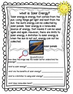 Forms of Energy- Science Informational Text. Integrate the content area of science into reading! Also, an additional writing about reading formative assessment included. Getting to EVERYTHING can be so difficult. Short informational passages can help a busy teacher cover informational text standards as well as cover important science concepts. This packet can be taught in a little over a week with a bonus science experiment on the last day of the week.