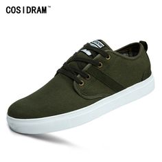 28.99$  Buy here - http://aik06.worlditems.win/all/product.php?id=32800455290 - Army Green Canvas Men Casual Shoes Flat Heels Spring Autumn Men Shoes Fashion New 2017 Zapatos Hombre Male Footwear RMC-901