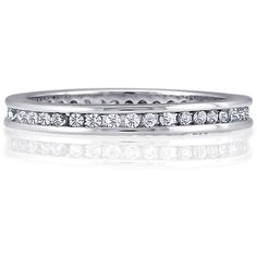 BERRICLE Sterling Silver 0.57 ct.tw CZ Wedding Bridal Anniversary... ($47) ❤ liked on Polyvore