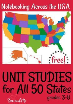 Unit Studies for all 50 States! Study U. Geography for an entire year with these FREE Unit Studies for all 50 States! Us Geography, Teaching Geography, Geography Activities, 5th Grade Geography, Reading Activities, Gifted Education, History Education, Teaching History, Special Education