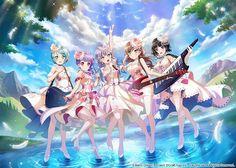 The BanG Dream! Anime Furry, Me Anime, Anime Music, Manga Anime, Kawaii Anime Girl, Anime Art Girl, Anime Friendship, One Punch Anime, Miss Kobayashi's Dragon Maid