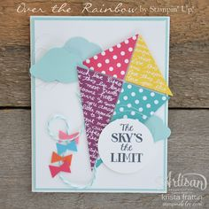 Over the Rainbow stamp set is super cute & fun! - Krista Frattin