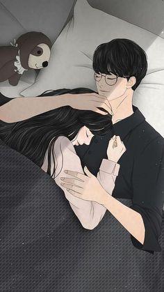 Love Cartoon Couple, Cute Couple Comics, Cute Couple Art, Anime Love Couple, Cute Couple Drawings, Anime Couples Drawings, Anime Couples Manga, Anime Girls, Cute Couple Wallpaper