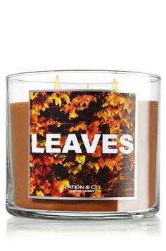 Leaves 14.5 oz. 3-Wick Candle - Slatkin & Co. - Bath & Body Works