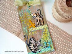 Sizzix Tutorial- 4 U Crazy Cats mixed-media art tag by Audrey Pettit