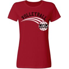 Volleyball Mom Tee   Red misses t-shirt with Volleyball Mom