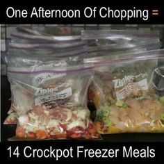14 freezer meals in one afternoon...