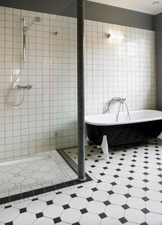 łazienka w stylu retro - Vabo