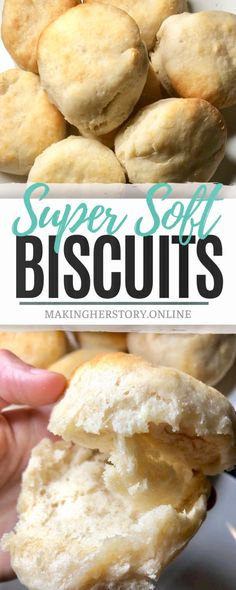Soft Biscuits that are perfectly light and fluffy on the inside! - Soft Biscuits that are perfectly light and fluffy on the inside! Same Recipe; New pic! Fluffy Biscuits, Biscuits And Gravy, Buttermilk Biscuits, Easy Biscuits, Healthy Biscuits, Buttermilk Recipes, Bisquick Recipes, Homemade Biscuits Recipe, Homemade Pastries