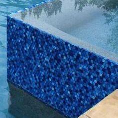Pool tile - Jules 1x1 glass series - bright cobalt blue blend 9575-5AT