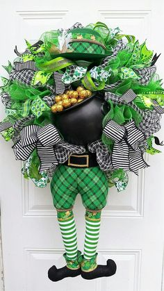 St Patricks Day Decor St Patricks Day Wreath St Patricks