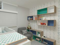 Uma estante com nichos soltos podem ser reaproveitados em outros ambientes ou arrumados de outra forma. Projeto Erica Saraiva Design de Interiores