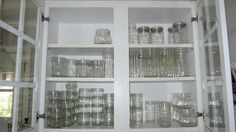 Easy Office Lunchs Sans Microwave: Why yes I do have a whole cabinet dedicated to canning jars!