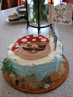 Pirate cake for 4th birthday