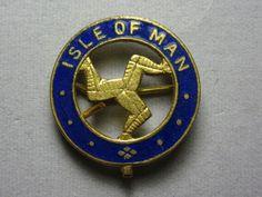 1960年代 【Isle of man】マン島 三脚巴ピンバッジ