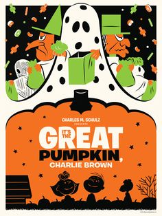 fuckyeahmovieposters:  It's the Great Pumpkin, Charlie Brown by Michael De Pippo  Brilliant!!
