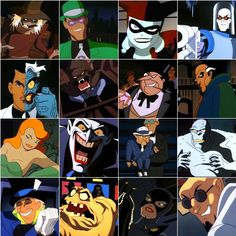 Batman The Animated Series Villain Roster- 1st generation character designs