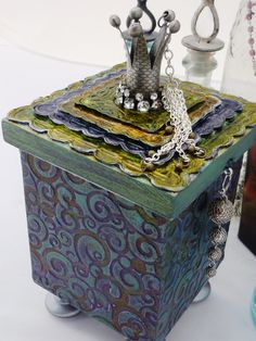 """This box just makes my heart smile.  Box with Polymer and Molding Clay  """"Playing Dress Up"""". $47.50, via Etsy."""