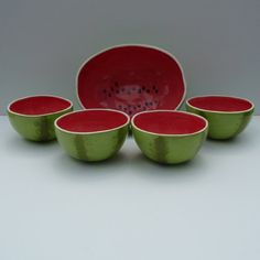 Watermelon Bowls Serving Set by vegetabowls on Etsy