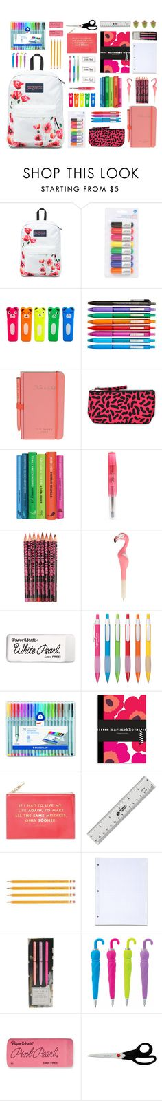 """#127 Back To School Supplies (7)"" by konstantina00085 ❤ liked on Polyvore featuring interior, interiors, interior design, home, home decor, interior decorating, Silhouette, Paperchase, Wild & Wolf and Motel"