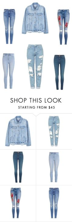 """Denim venom"" by audjvoss ❤ liked on Polyvore featuring MANGO, Topshop, River Island, Hollister Co. and Frame"