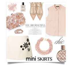 """""""Marc Jacobs Embroidered Mini Skirt"""" by anchilly23 ❤ liked on Polyvore featuring Marc Jacobs, Accessorize, Kenneth Jay Lane, MANGO, Valentino, Bare Escentuals, Barbour and Lola Rose"""