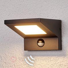 LED-Außenwandleuchte Levvon mit Bewegungssensor 9619036