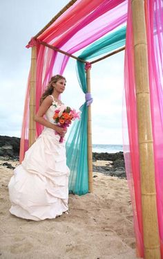 Beach Wedding idea. Moontide on New Smyrna Beach is perfect for a Florida beach wedding!  Beach weddings can be very low cost... Save your money for an investment in a home or your future children! Http://www.TheMoontide.blogspot.com