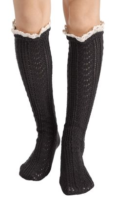 """Elacucos Christmas Women Lace Trim Knitted Thick Boot Socks Leg Warmers,Dark Grey,One Size. BEST QUALITY & 100% BRAND NEW. PERFECT FOR COLD WEATHER - very warm and fashionable to wear. LOOKS GREAT - you can pair them with tights, leggings, skirts, skinny jeans for a sweet cozy look. PERFECT FIT - one size fits most. Material: 100% Acrylic / Weight: 92g / Length: 15.7"""", one size fits all ;."""