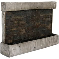 Buy Sunnydaze Ancient Wall Mounted Waterfall Fountain, Outdoor Modern Water Feature, 24 Inch at Wish - Shopping Made Fun Outdoor Waterfall Fountain, Outdoor Wall Fountains, Outdoor Walls, Water Fountains, Garden Fountains, Outdoor Living, Indoor Outdoor, Concrete Fountains, Outdoor Greenhouse